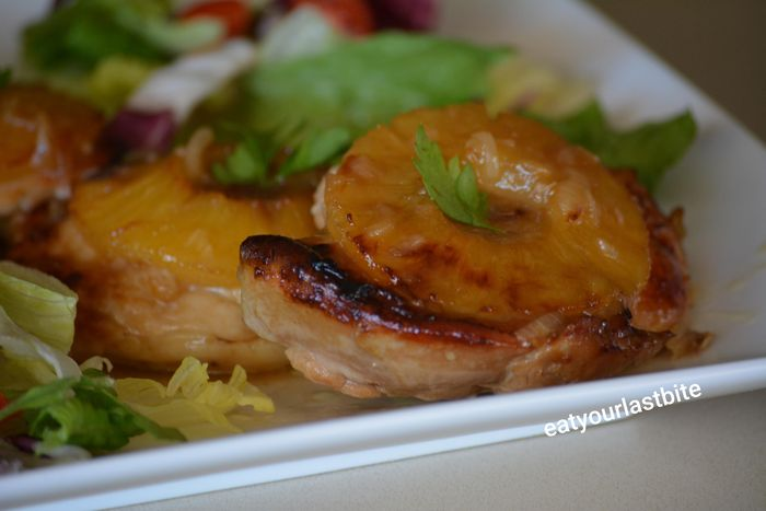 Εύκολο κοτόπουλο με ανανά